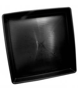 Imagen secundaria del producto Bandejas negras y cuadradas de plástico resistente