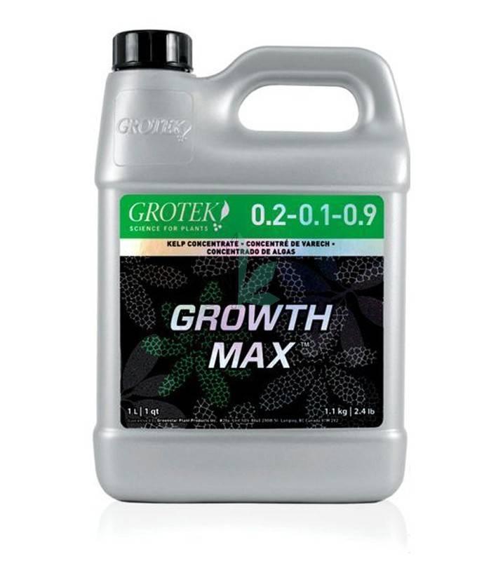 Imagen principal del producto Growth Max estimulador radicular y mejorador de suelo Grotek