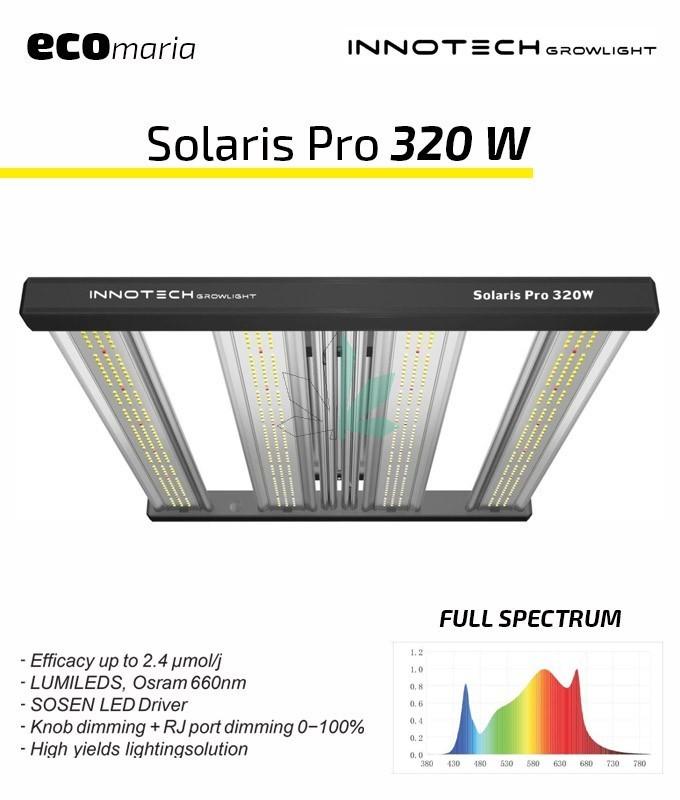 Imagen principal del producto Solaris Pro 320 W sistema de iluminación Led de Innotech GrowLight