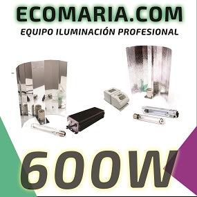 Oferta kit iluminación cultivo interior 600W HPS